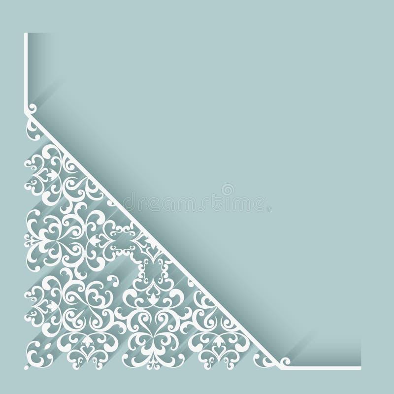 Esquina de papel del cordón ilustración del vector