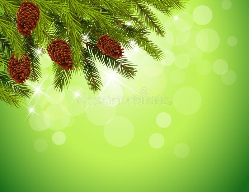 Esquina decorativa de la Navidad en el fondo blanco libre illustration