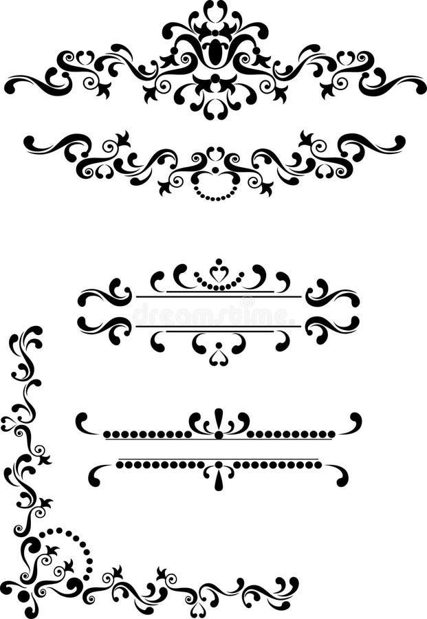 Esquina decorativa, frontera, marco. Artes gráficos. imagenes de archivo