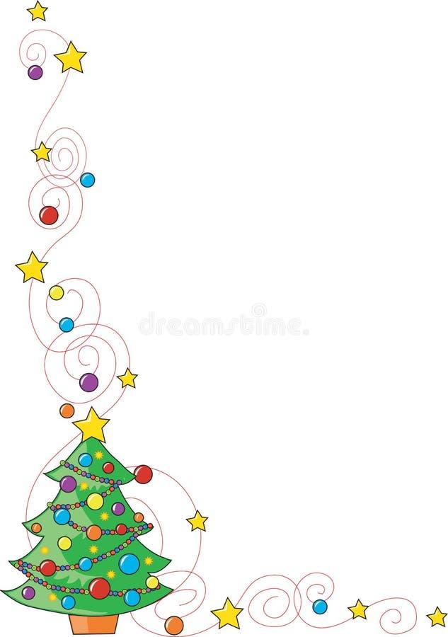 Esquina del árbol de navidad libre illustration