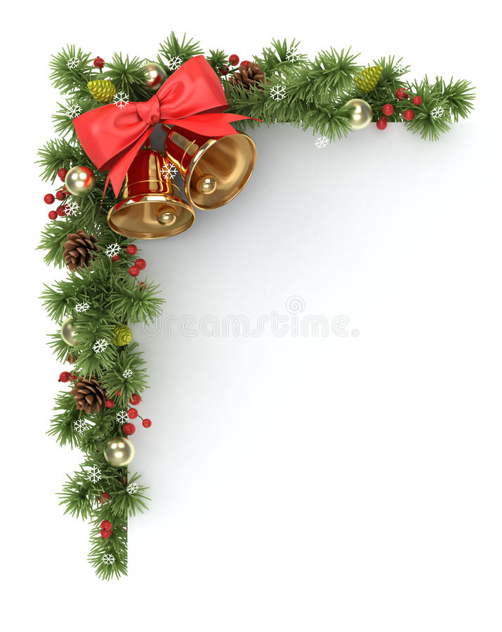 Esquina del árbol de navidad. stock de ilustración