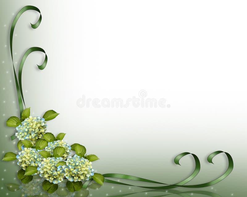 Esquina del Hydrangea y de las cintas   stock de ilustración