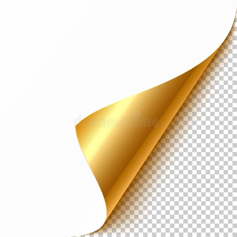 Esquina encrespada oro stock de ilustración
