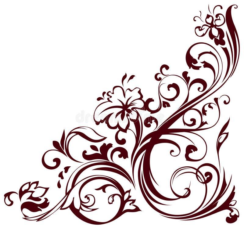 Esquina floral libre illustration