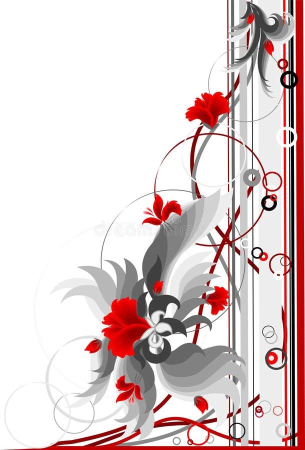 Esquina floral. stock de ilustración