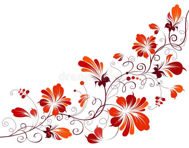 Esquina floral del vintage libre illustration