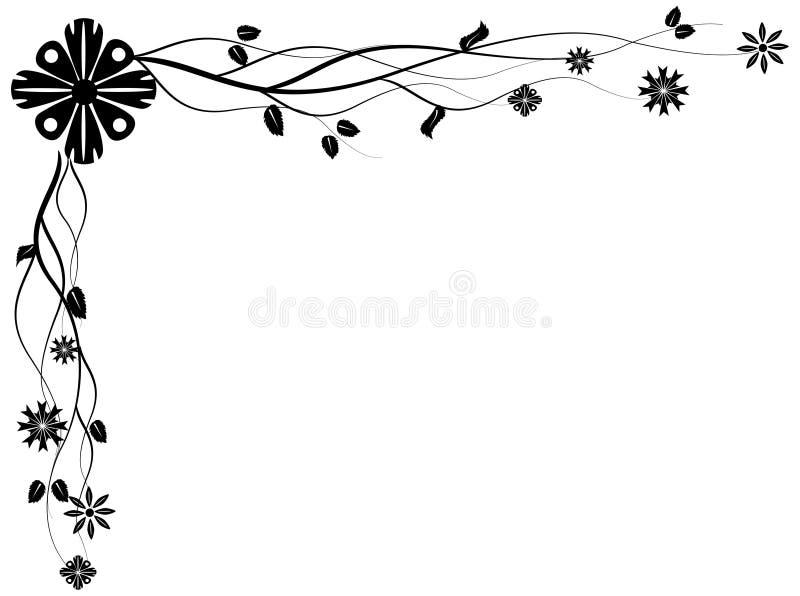 Esquina floral vectorizada stock de ilustración