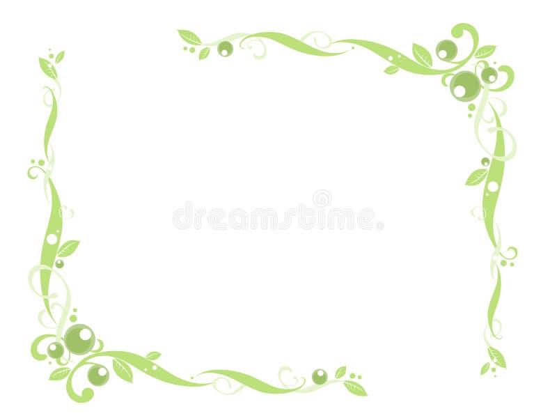 Esquina floral verde libre illustration