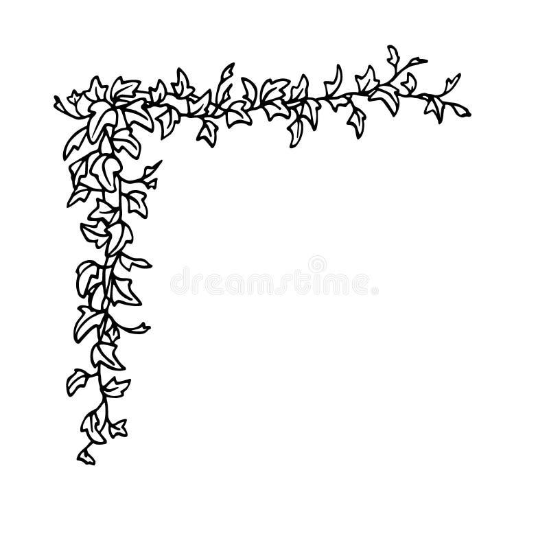Esquina inglesa de la hiedra libre illustration
