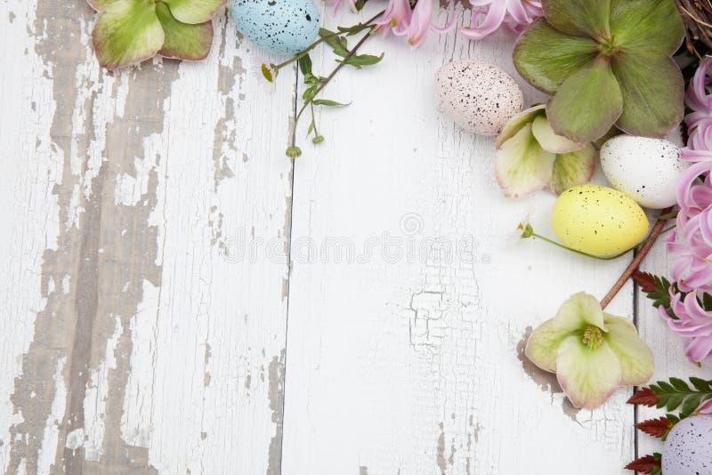 Esquina Marco floral Tema de Pascua fotos de archivo libres de regalías