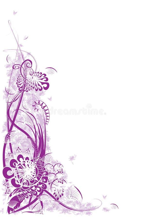 Esquina púrpura abstracta stock de ilustración