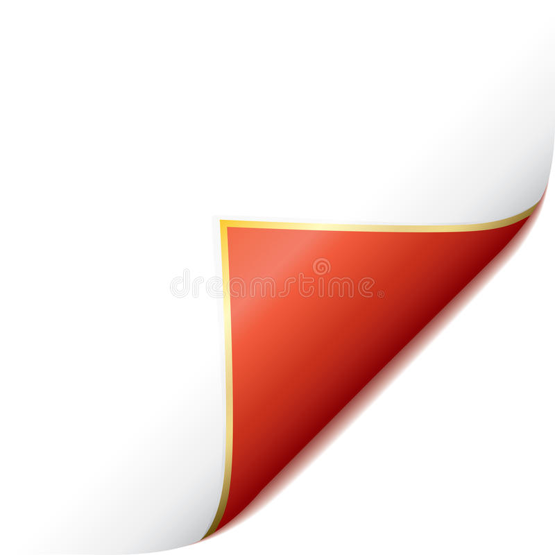 Esquina roja encrespada paginación libre illustration