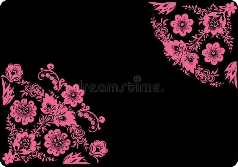 Esquina rosada bilateral stock de ilustración