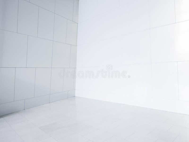 Esquina vacía con las tejas blancas ilustración del vector