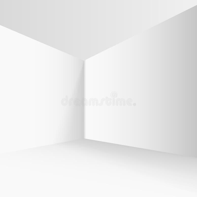 Esquina vacía en el cuarto con las paredes grises libre illustration