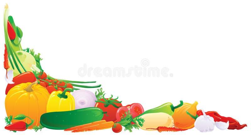 Esquina vegetal stock de ilustración