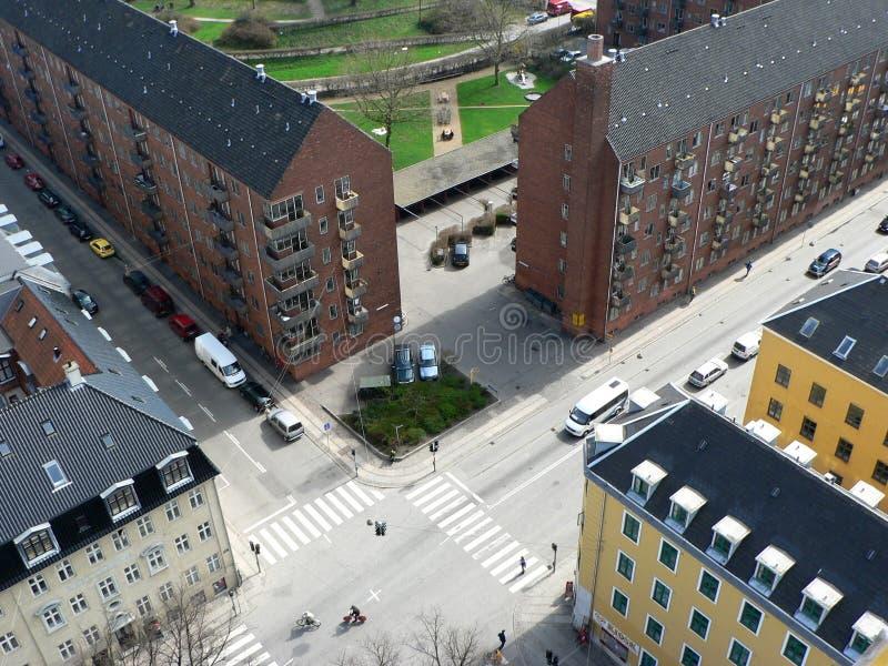 Esquinas de calle en Copenhague fotos de archivo libres de regalías