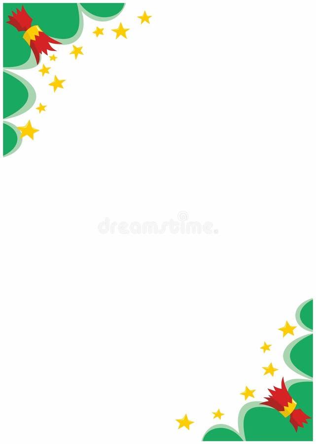 Esquinas de la frontera de las galletas A4 de la Navidad stock de ilustración