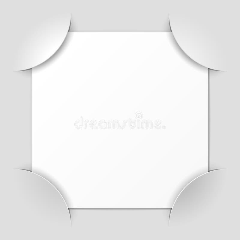 Esquinas del marco de la foto stock de ilustración