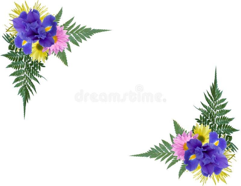 Esquinas florales imágenes de archivo libres de regalías