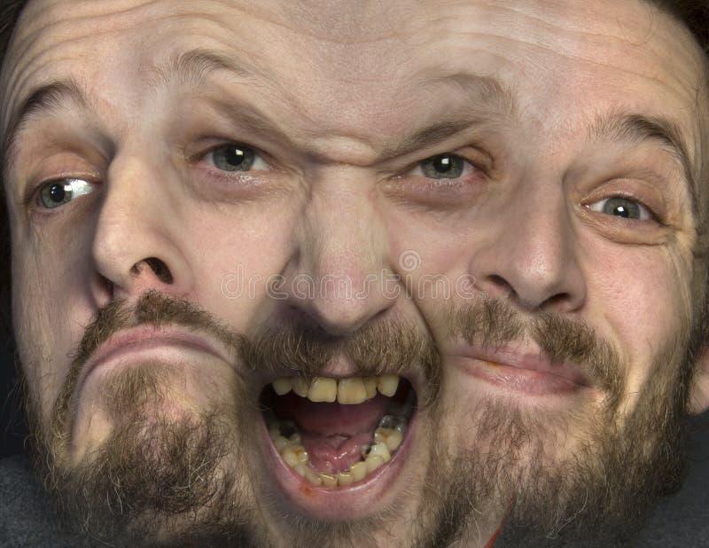 Esquizofrenia - personalidade múltipla fotografia de stock
