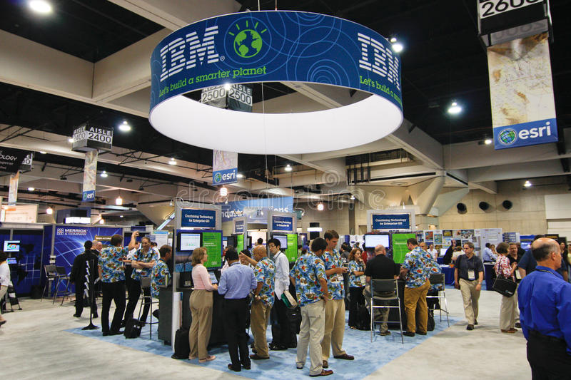ESRI User Conference - IBM Booth royalty free stock photography