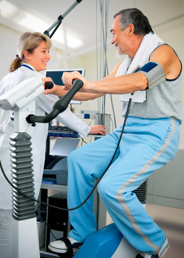 Essai d'EKG images stock