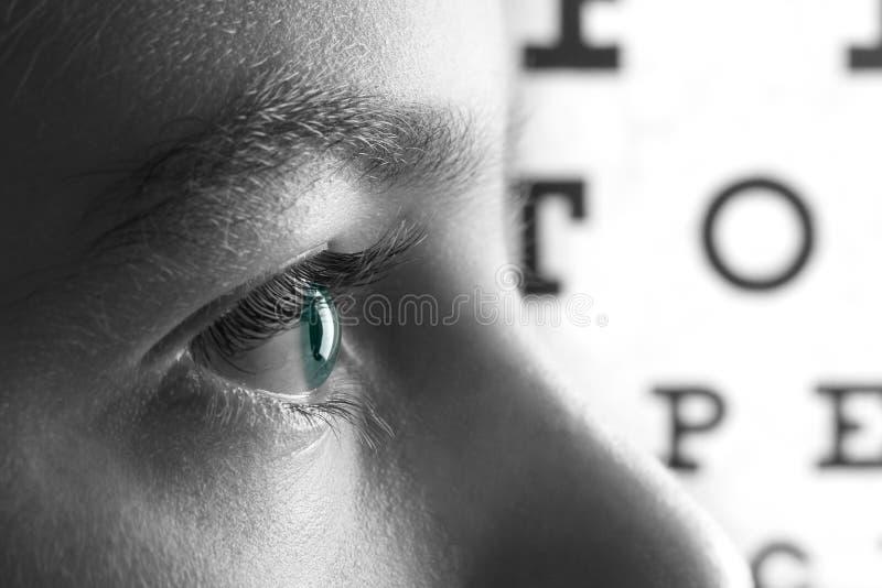 Essai d'ophthalmologie de vue d'oeil et santé de vision, docteur photo libre de droits