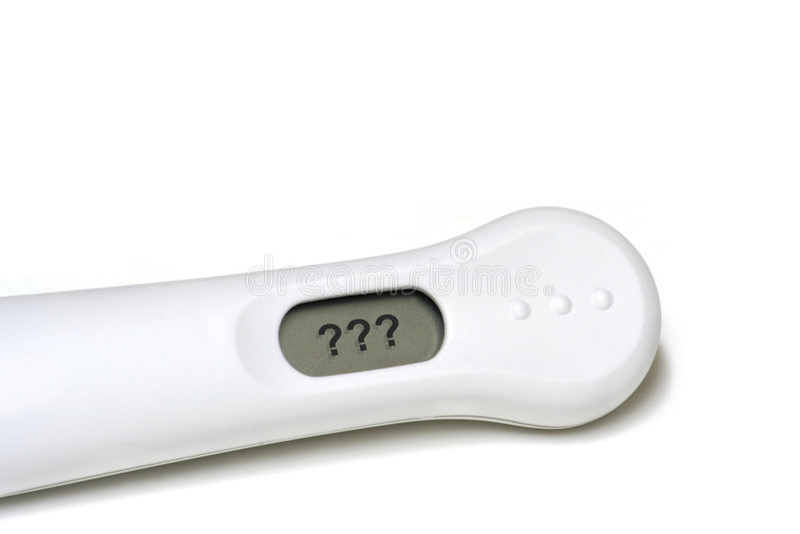 Essai de grossesse à la maison photos libres de droits