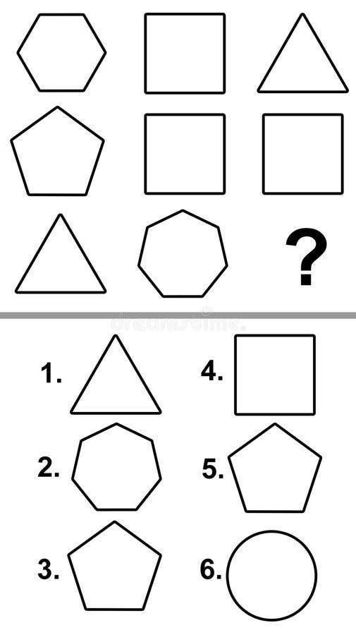 Essai de Q.I. illustration stock