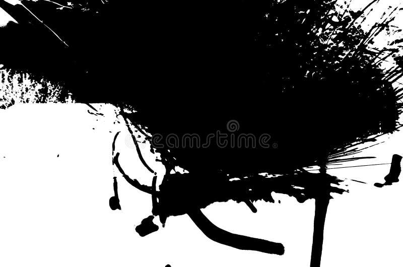 Essai de tache d'encre de Rorschach de photo illustration de vecteur