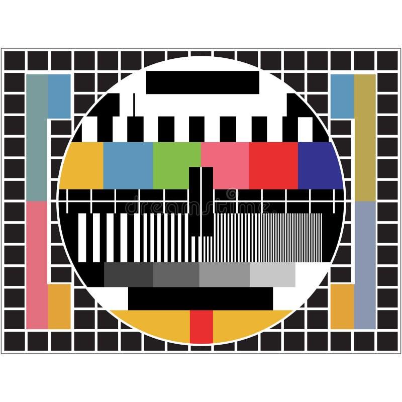 Essai de TV illustration stock