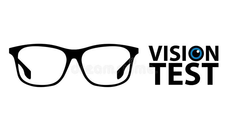 Essai de vision, concept d'essai d'oeil - illustration de vecteur - d'isolement sur le fond blanc illustration stock