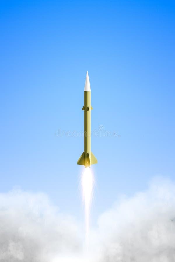 essai nucléaire de fusée illustration stock