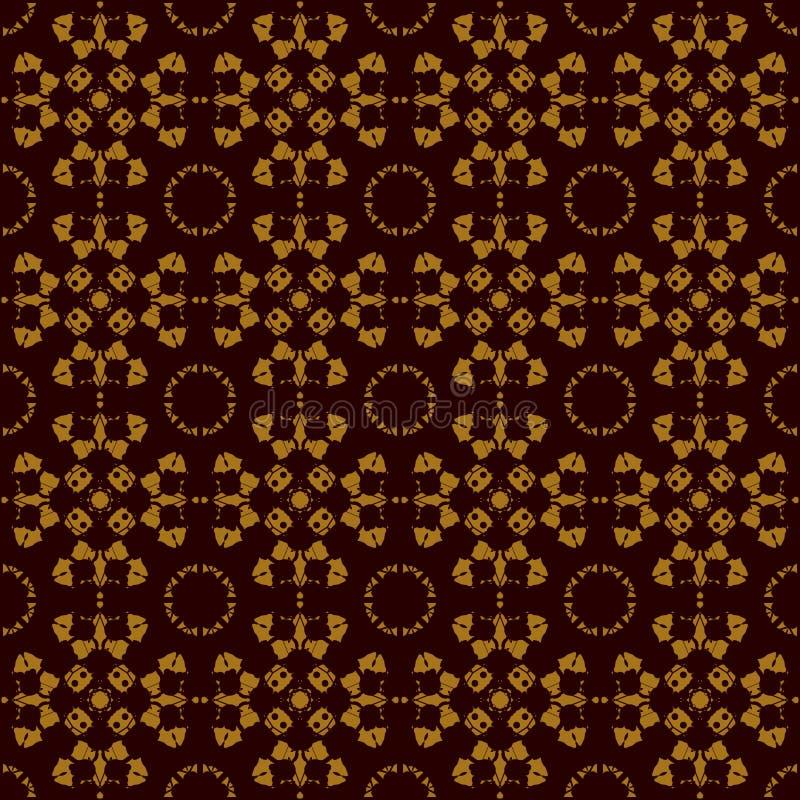 Essai sans couture de tache d'encre de Rorschach d'impression de symétrie inspiré Configuration sans joint abstraite Pour le tiss illustration de vecteur