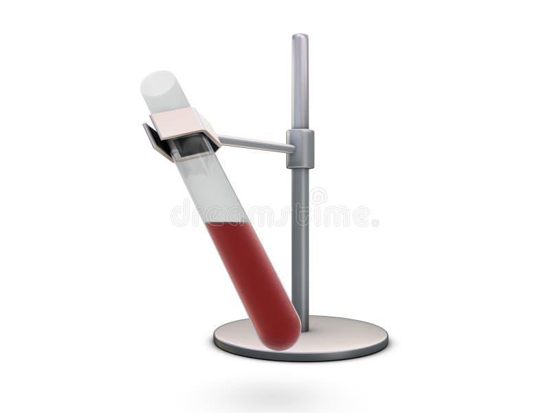 Essai-tube avec le sang illustration stock