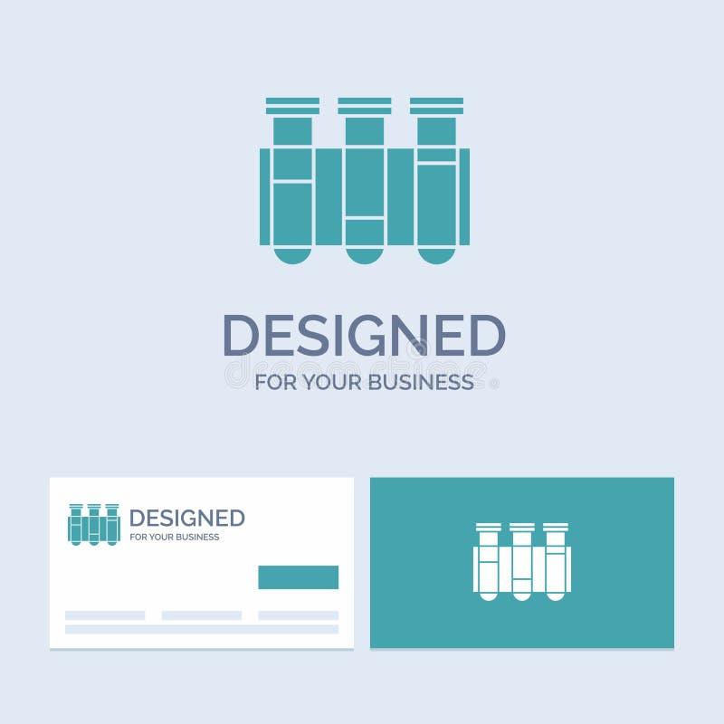 Essai, tube, la Science, laboratoire, affaires Logo Glyph Icon Symbol de sang pour vos affaires Cartes de visite professionnelle  illustration libre de droits