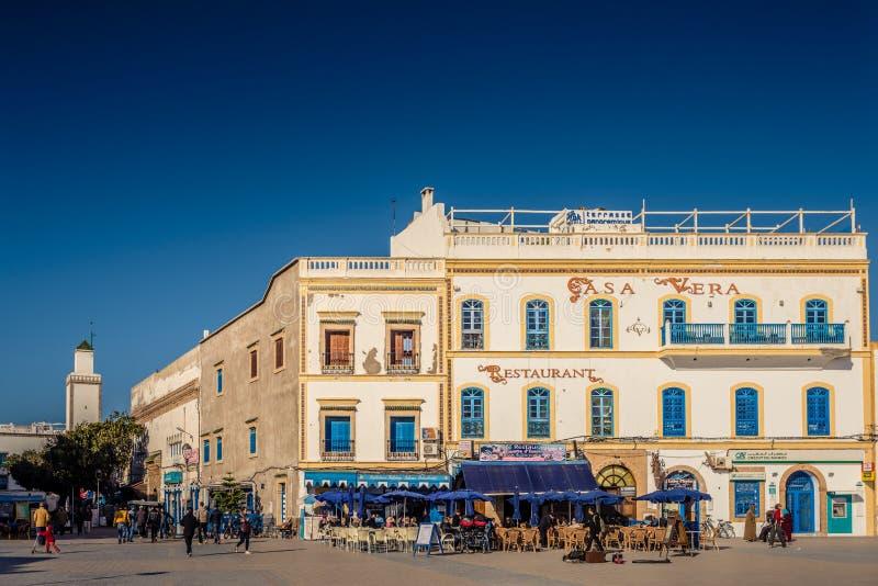 Essaouira街道,摩洛哥 免版税图库摄影