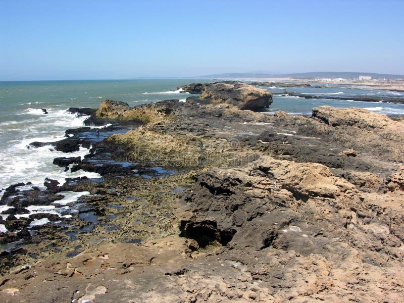 Essaouira, ακτή του Ατλαντικού Ωκεανού στο Μαρόκο στοκ φωτογραφίες με δικαίωμα ελεύθερης χρήσης