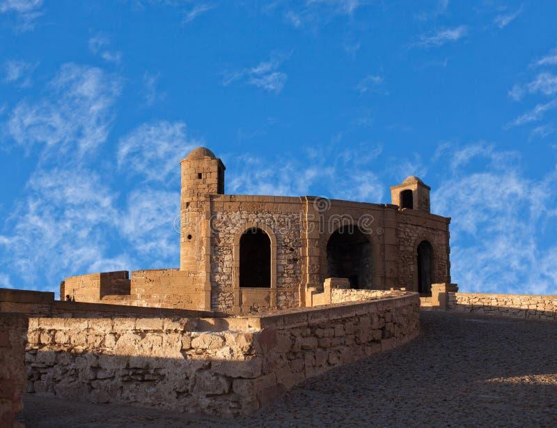 Essaouira-Festung in Marokko auf der Atlantikküste, Afrika stockfotografie