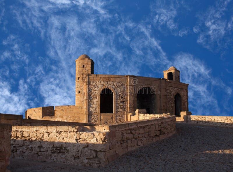Essaouira forteca w Maroko na Atlantyckim wybrzeżu, Afryka fotografia royalty free