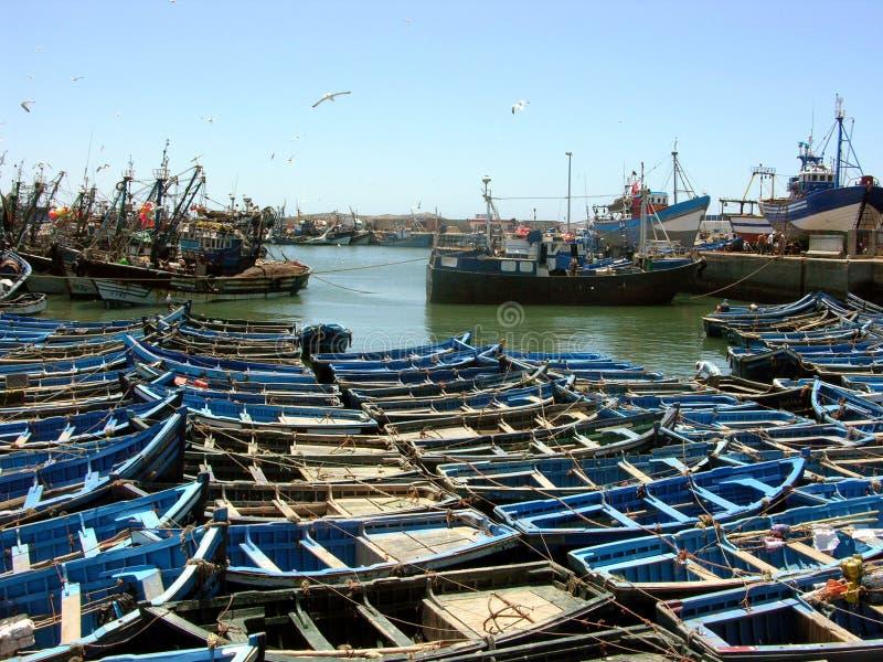Essaouira hamn av Atlanticet Ocean i Marocko arkivfoto