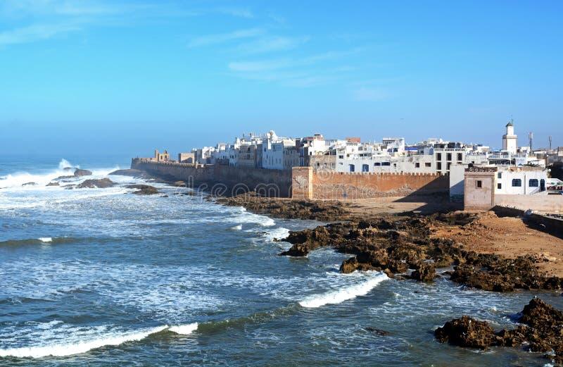 Essaouira ist eine Stadt und ein Hafen auf der Atlantikküste in Marokko stockbild