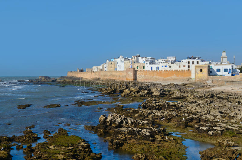 Essaouira landmark. View of Essaouira in Morocco on the Atlantic coast, North Africa. The old part of town is the UNESCO world heritage sites royalty free stock photos