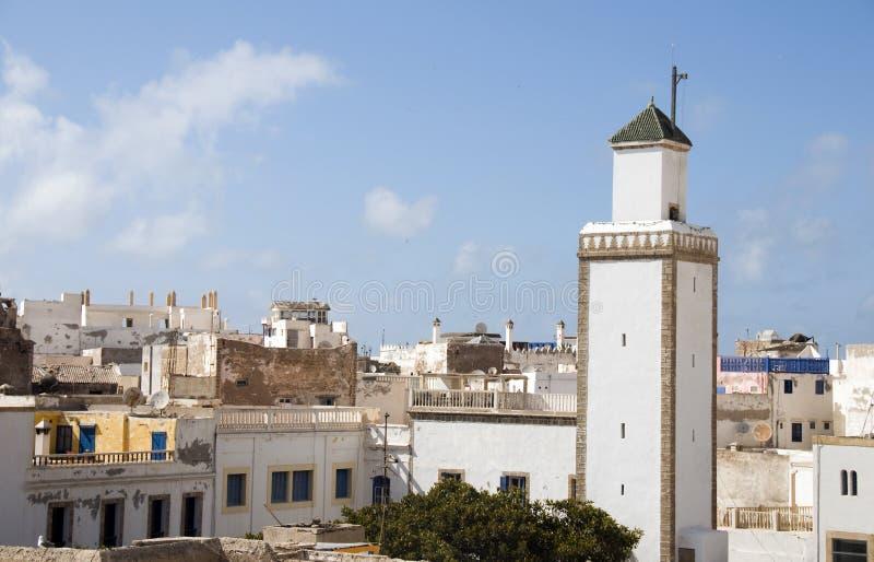 Essaouira Marocco dei tetti e della moschea immagine stock libera da diritti