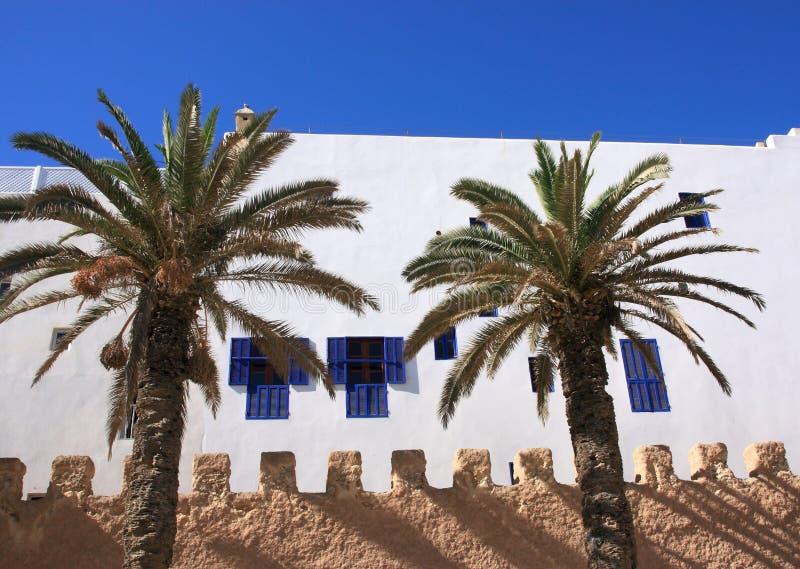 Essaouira Marokko, Medina Wand stockfoto
