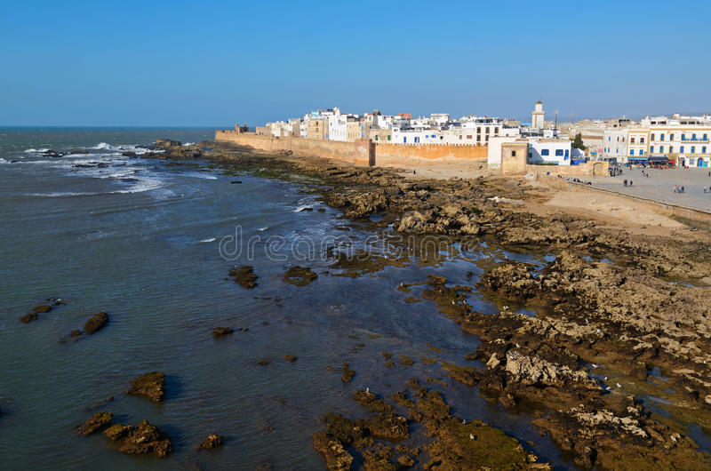 Essaouira medina. View of medina of Essaouira in Morocco on the Atlantic coast, North Africa. The old part of town is the UNESCO world heritage sites royalty free stock image
