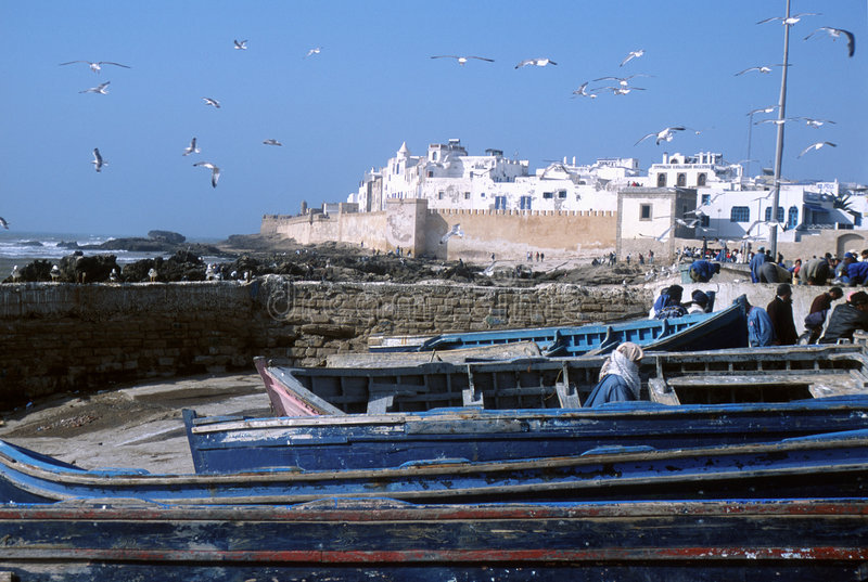 Essaouira, Morocco. Old fortified city of Essaouira in Morocco stock image