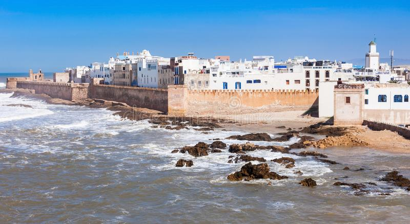 Essaouira in Morocco. Essaouira Ramparts in Essaouira, Morocco. Essaouira is a city in the western Moroccan region on the Atlantic coast stock photography