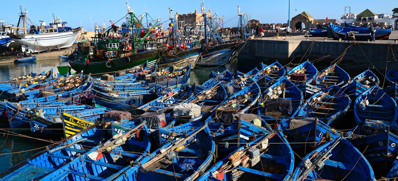 Essaouira port royaltyfria foton